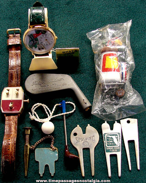 (9) Different Old Golf or Golfing Related Items