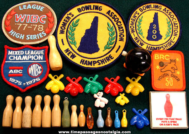 (30) Small Old Bowling Related Items