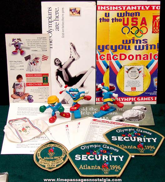 (45) 1996 Atlanta Georgia Olympics Advertising Souvenir Items