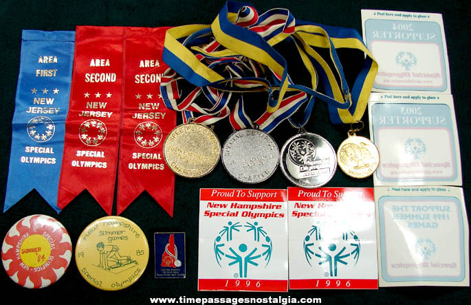 (15) Old Special Olympics Award &Advertising Souvenir Items