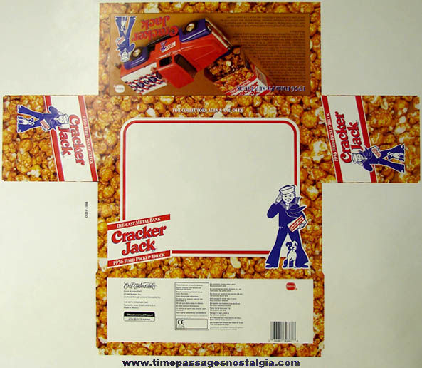 Unused �1996 Cracker Jack Advertising Ertl Truck Packaging Art