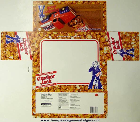 Unused ©1996 Cracker Jack Advertising Ertl Truck Packaging Art