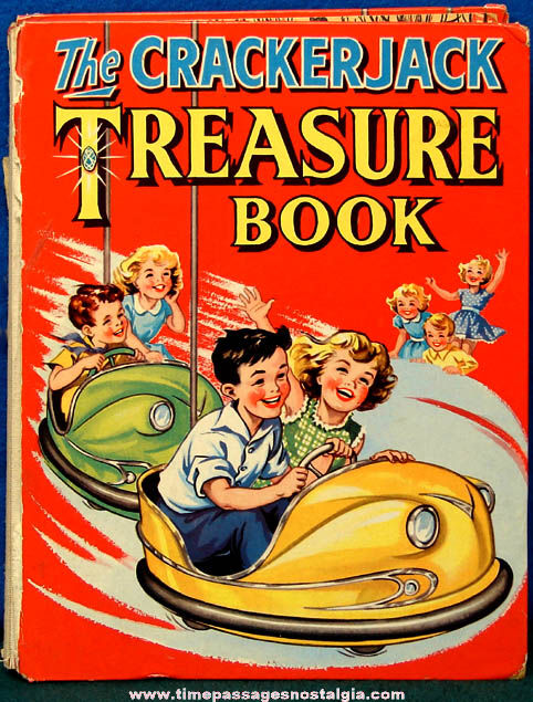 Colorful Old Hard Back Cracker Jack Treasure Book