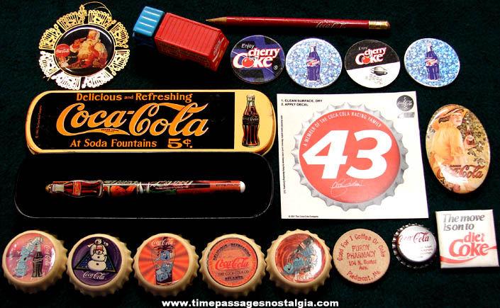 (18) Small Colorful Coca Cola Soda Advertising Items