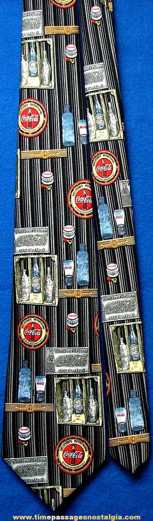 Colorful Unused Coca Cola Advertising Neck Tie