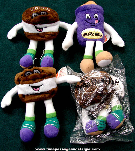 (4) ©1999 Dairy Queen Advertising Premium Character Bean Plush Pal Dolls