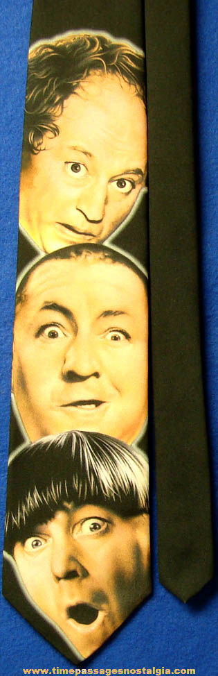 ©1997 Three Stooges Heads Will Roll Ralph Marlin Neck Tie