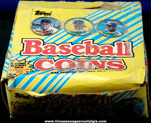(108) Unopened ©1989 Topps Baseball Coins With Display Box