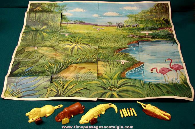 ©1964 Kellogg's Corn Flakes Cereal Premium Jungle Jump Up Hunting Game