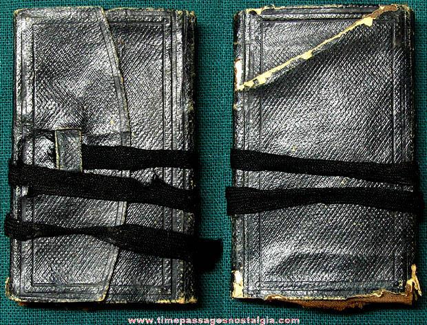Small 1860 Pocket Calendar Diary with Many Entries
