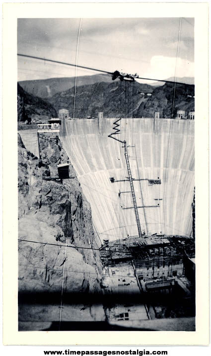 Old Hoover Dam Under Construction Photograph