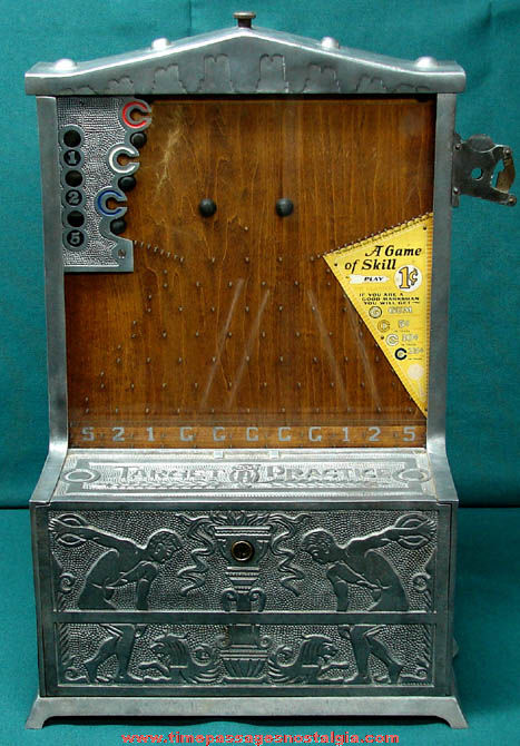 1926 Mills Target Practice Trade Stimulator Penny Drop Game