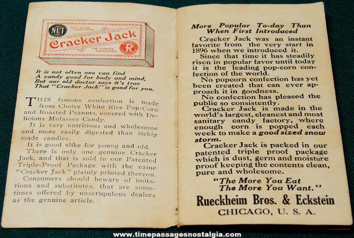 1910s Cracker Jack Pop Corn Confection Advertising Premium Riddle Book