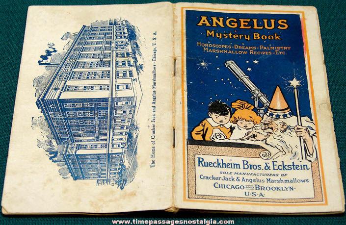 1916 Angelus Marshmallows Cracker Jack Advertising Premium Mystery Book