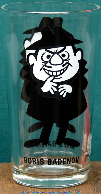 Old Boris Badenov Cartoon Character Pepsi Drink Glass