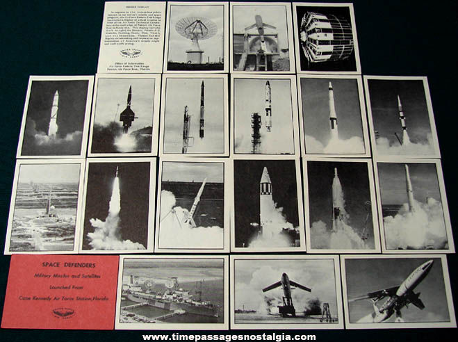 Space Defenders Military Missiles & Satellites Trading Card Set