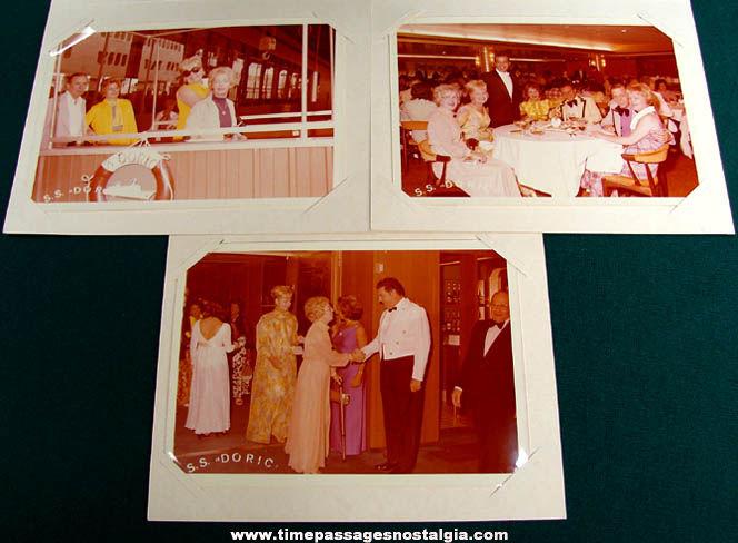 (5) 1975 S. S. Doric Cruise Ship Souvenir Photographs & Programs