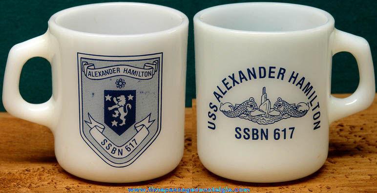 Old United States Navy U.S.S. Alexander Hamilton SSBN - 617 Coffee Cup