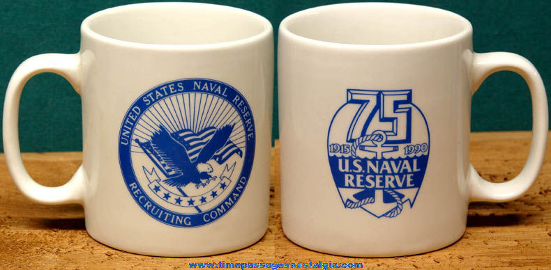 1990 U.S. Naval Reserve Recruiting Command Anniversary Coffee Cup