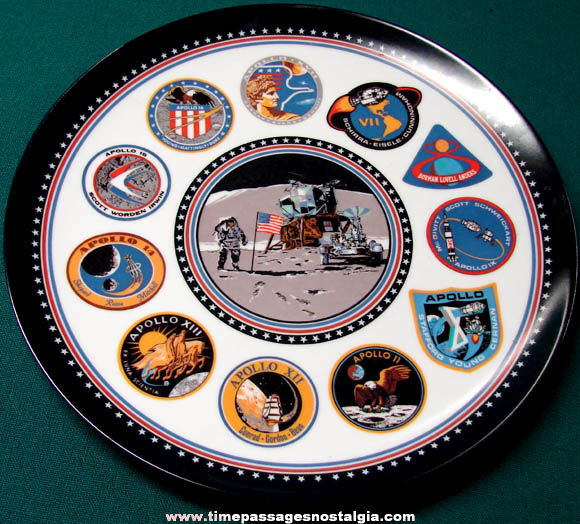 Colorful Old United States Apollo Space Mission Souvenir Plate