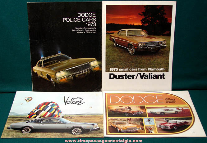 (4) 1970s Dodge Chrysler Plymouth Automobile Advertising Magazines