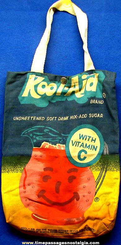 Colorful Old Kool-Aid Drink Mix Advertising Premium Cloth Tote Bag