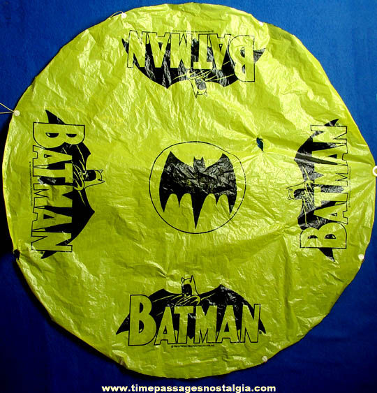 Colorful ©1966 Batman Character Parachute Toy