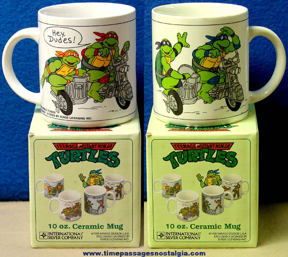 Unused & Boxed ©1990 Teenage Mutant Ninja Turtles Coffee Cup