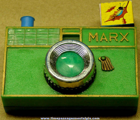 Old Marx Toy Camera Viewer With Auto & Motorcycle Racing Pictures