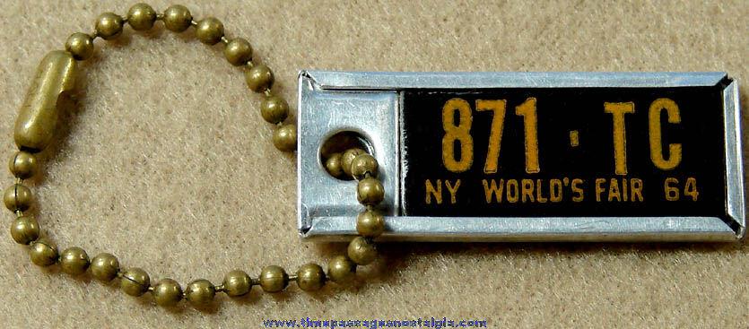 1964 New York World's Fair Disabled American Veterans License Plate Key Chain