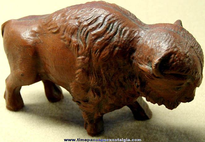 Old Buffalo or American Bison Syroco Figurine