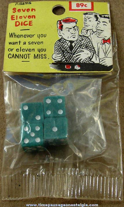 Unopened ©1959 Adams Novelty Trick Dice Sets