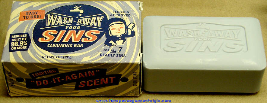 Boxed & Unused Wash Away Your Sins Religious Soap Bar