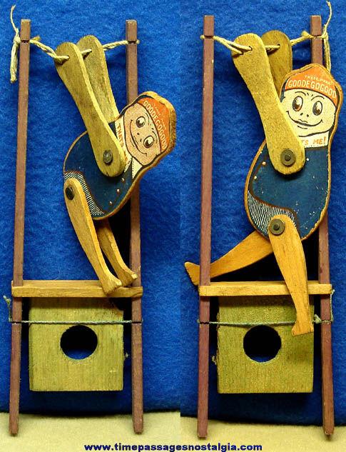 Early Wooden Goodegogood Character Acrobat Novelty Toy