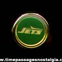 1970s - 1980s Kellogg's Corn Pops Cereal Prize New York Jets Football Team Logo Toy Ring