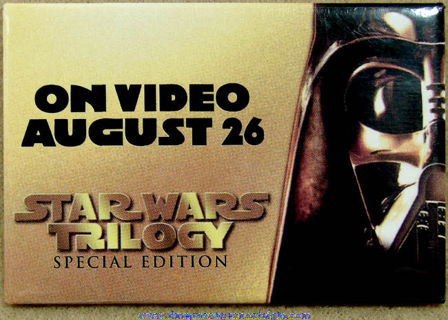 (5) ©1997 Star Wars Movie Trilogy Advertising Pin Back Buttons
