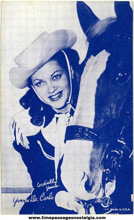 Old Actress Yvonne De Carlo Arcade Machine Vending Card