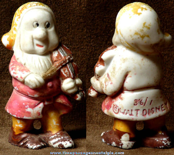 Old Walt Disney Snow White Sneezy Dwarf Bisque Porcelain Figurine