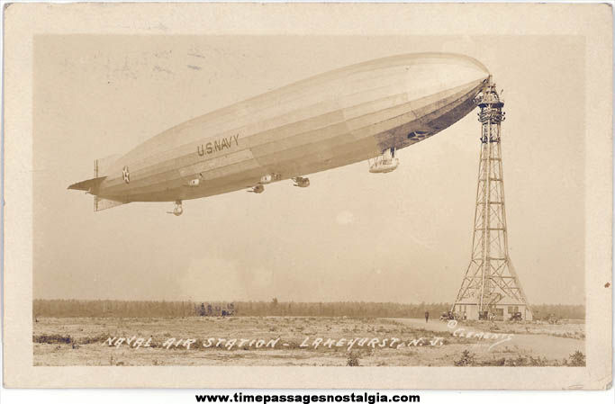 1923 - 1925 United States Navy U.S.S. Shenandoah (ZR-1) Airship Real Photo Post Card