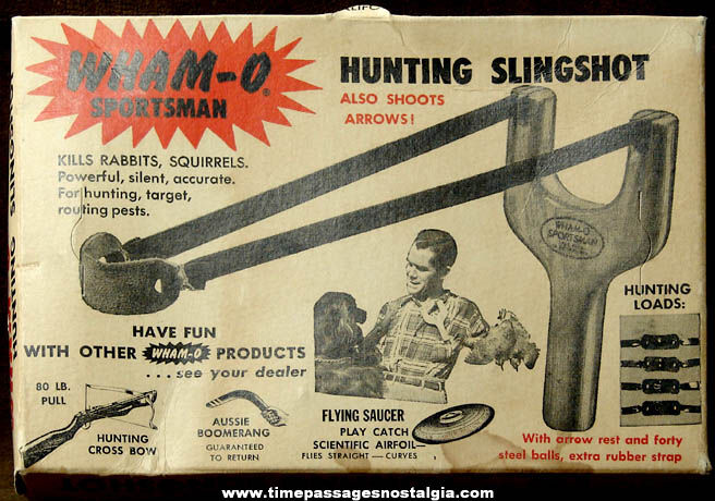 Old Wham O Sportsman Hunting Slingshot With Advertising