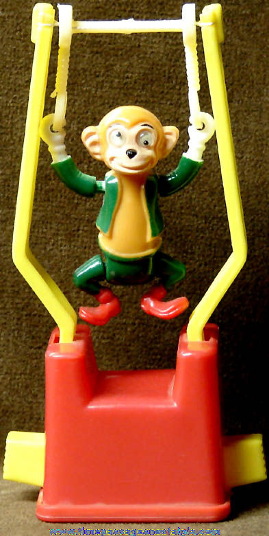 Monkey Tricky Trapeze Push Button Novelty Puppet Toy
