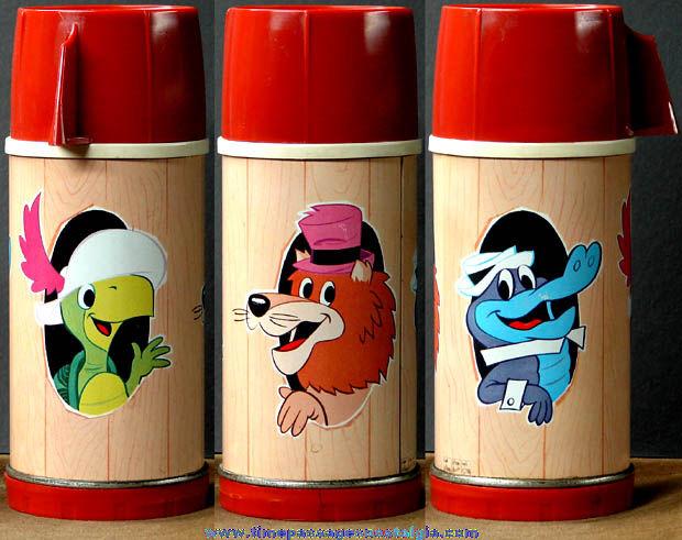 1960s Hanna Barbera Cartoon Character Glass Universal Thermos Bottle