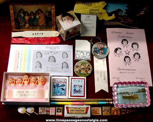 (30) Old Dionne Quintuplets Convention Souvenir Items