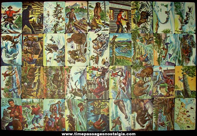 ©1950 Set of (36) Sergeant Preston Challenge of The Yukon Cards, Yukon Map & Mailer