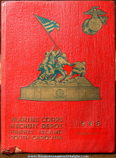 1968 U.S. Marine Corps Recruit Depot Parris Island South Carolina Book