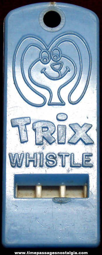 Old Trix Cereal Advertising Character Prize Whistle