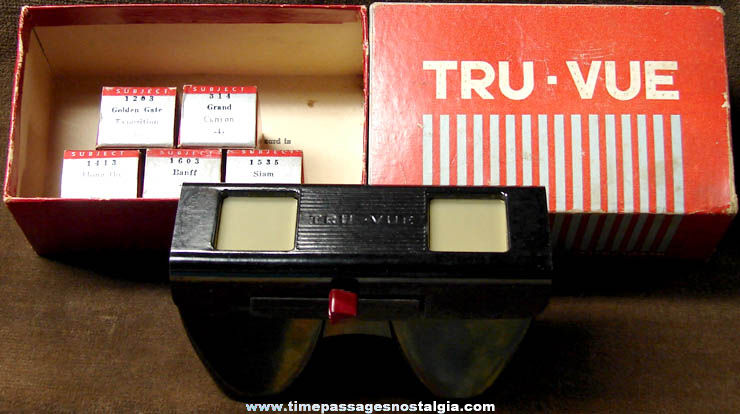 (5) Boxed 1930s Tru-Vue 3-D Films With Viewer