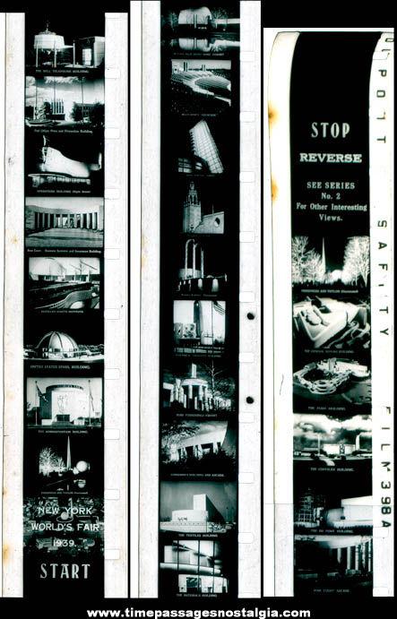 1939 New York World's Fair Advertising Souvenir 16mm Film Strip