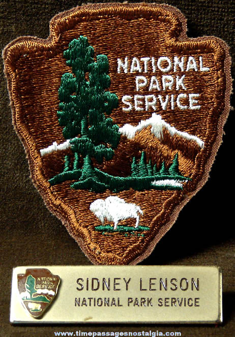 (2) Old United States National Park Service Employee Uniform Items