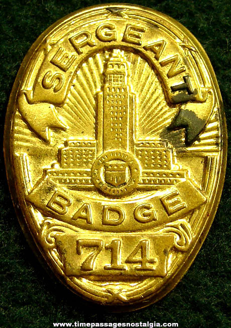 Old Dragnet Embossed Brass Premium Toy Police Badge